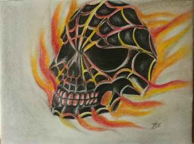skull of spiderman